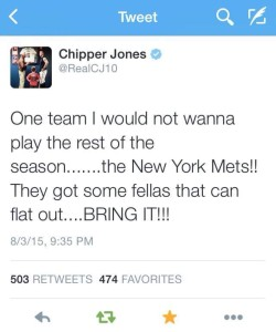 Chipper tweet